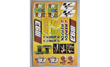 Αυτοκόλλητη καρτέλα MotoGP