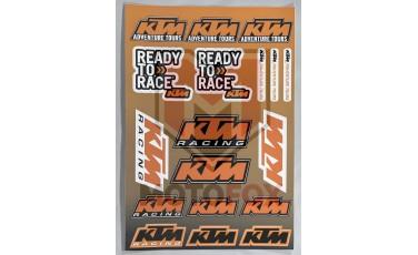 Αυτοκόλλητη καρτέλα KTM