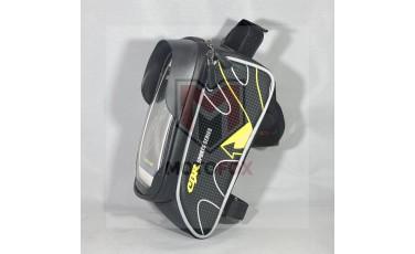 Τσάντα Ποδηλάτου με θήκη κινητού κίτρινη