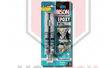 Εποξική κόλλα μετάλλων 2 συστατικών Bison epoxy metal