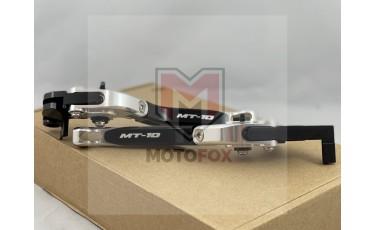 Σετ μανέτες σπαστές ρυθμιζόμενες Ασημί-Μαύρο Yamaha MT-10