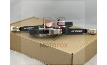 Σετ μανέτες σπαστές ρυθμιζόμενες Ασημί-Μαύρο Yamaha XT600X