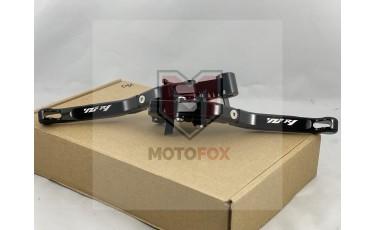 Σετ μανέτες σπαστές ρυθμιζόμενες Μαύρες Yamaha YZF R1 2015-2016