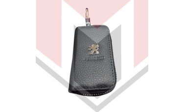 Mπρελοκ κλειδιών θήκη με δερματίνη Peugeot