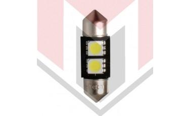 ΛΑΜΠΑΚΙΑ ΠΛΑΦΟΝΙΕΡΑΣ C5W/C10W 12V 0,48W SV8,5 CAN-BUS LED 2XSMD5050 PREMIUM ΛΕΥΚΟ 1ΤΕΜ