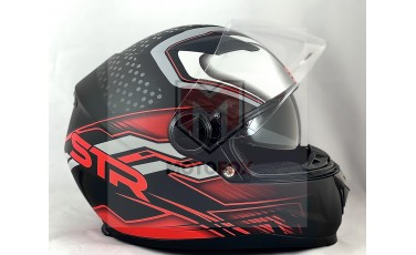 Full Face Κράνος STR STELLAR BLACK RED MATT 693-30-35000438
