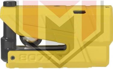 Κλειδαριά Δίσκου ABUS AB8077A Detecto με συναγερμό Κίτρινη