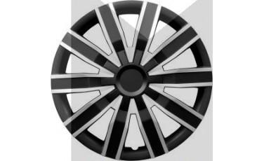 Kάλλυμα τροχών αυτοκινήτου (τάσια) 16'' ιντσών χρώμα μαύρο/ασημί (MMT A112 2044D 16)