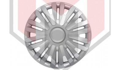 Kάλλυμα τροχών αυτοκινήτου (τάσια) 16'' ιντσών χρώμα ασημί (MMT A112 2046 16)