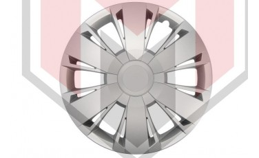 Kάλλυμα τροχών αυτοκινήτου (τάσια) 15'' ιντσών χρώμα ασημί (MMT A112 2047 15)