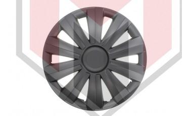 Kάλλυμα τροχών αυτοκινήτου (τάσια) 15'' ιντσών χρώμα μαύρο (MMT A112 2041B 15)