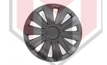 Kάλλυμα τροχών αυτοκινήτου (τάσια) 17'' ιντσών χρώμα μαύρο (MMT A112 2041B 17)