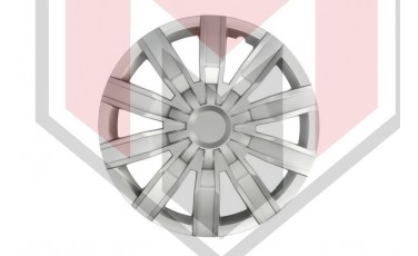 Kάλλυμα τροχών αυτοκινήτου (τάσια) 15'' ιντσών χρώμα ασημί (MMT A112 2044 15)