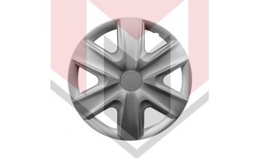 Kάλλυμα τροχών αυτοκινήτου (τάσια) 16'' ιντσών χρώμα ασημί (MMT A112 2038 16)
