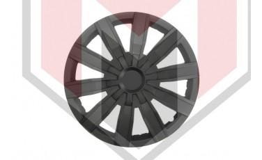 Kάλλυμα τροχών αυτοκινήτου (τάσια) 15'' ιντσών χρώμα μαύρο (MMT A112 2044B 15)
