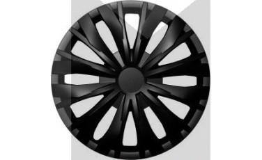 Kάλλυμα τροχών αυτοκινήτου (τάσια) 14'' ιντσών χρώμα μαύρο (MMT A112 2045B 14)