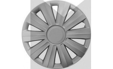 Kάλλυμα τροχών αυτοκινήτου (τάσια) 16'' ιντσών χρώμα ασημί (MMT A112 2041 16)