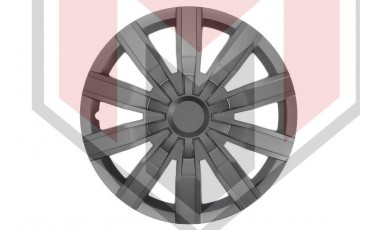 Kάλλυμα τροχών αυτοκινήτου (τάσια) 14'' ιντσών χρώμα μαύρο (MMT A112 2044B 16)