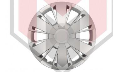 Kάλλυμα τροχών αυτοκινήτου (τάσια) 14'' ιντσών χρώμα ασημί (MMT A112 2046 16)