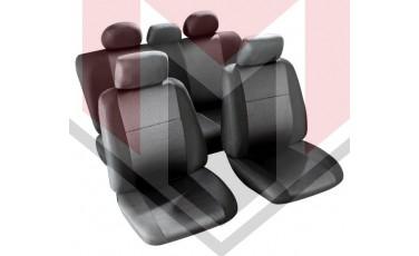 Κάλυμμα Σαλονιού Αυτοκινήτου (κομπλε Σετ μπροστά/πίσω) Χρώμα μαύρο/γκρι (MMT A048 223220)