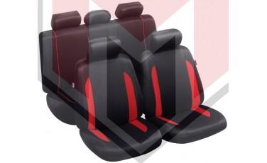 Κάλυμμα Σαλονιού Αυτοκινήτου (κομπλε Σετ μπροστά/πίσω) Χρώμα Μαύρο/κόκκινο (MMT A048 223280)