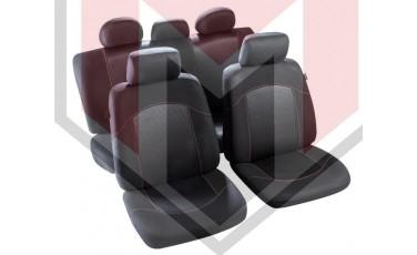 Κάλυμμα Σαλονιού Αυτοκινήτου (κομπλε Σετ μπροστά/πίσω) Χρώμα Μαύρο/κόκκινο (MMT A048 223300)