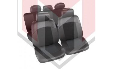 Κάλυμμα Σαλονιού Αυτοκινήτου (κομπλε Σετ μπροστά/πίσω) Χρώμα Σουέτ ECO δέρμα μαύρο ( MMT A048 227780)