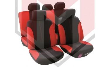 Κάλυμμα Σαλονιού Αυτοκινήτου (κομπλε Σετ μπροστά/πίσω) Χρώμα μαύρο/κόκκινο ( MMT A048 191300)