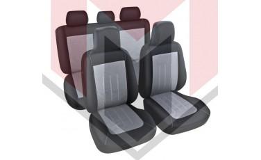 Κάλυμμα Σαλονιού Αυτοκινήτου (κομπλε Σετ μπροστά/πίσω) Χρώμα μαύρο/γκρι (MMT A048 231450)