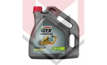 Castrol Λάδι κινητήρα αυτοκινήτου GTX 10W-40 Ultra Clean Synthetic Technology,συσεκυασία 4Lt