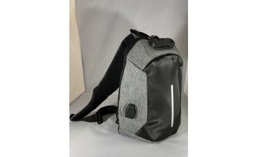 Τσάντα ώμου ανθρακί με κωδικό κλείδωμα και USB
