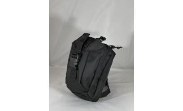 Τσάντα ποδιού μαύρη που πιάνει στην ζώνη