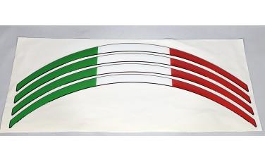 Αυτοκόλλητες ταινίες τροχών Ιταλική σημαία κρυσταλλοποιημένο