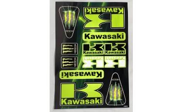 Αυτοκόλλητο Καρτέλα Monster Kawasaki 21 X 30