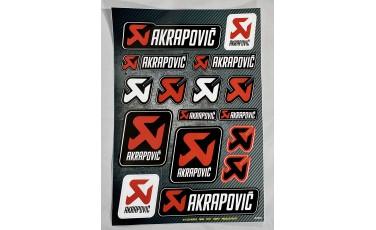 Αυτοκόλλητο Καρτέλα Akrapovic 21 X30